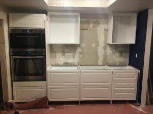 wall of cabinets