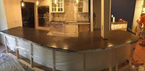 concrete countertop - bar side
