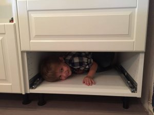 James in the drawer