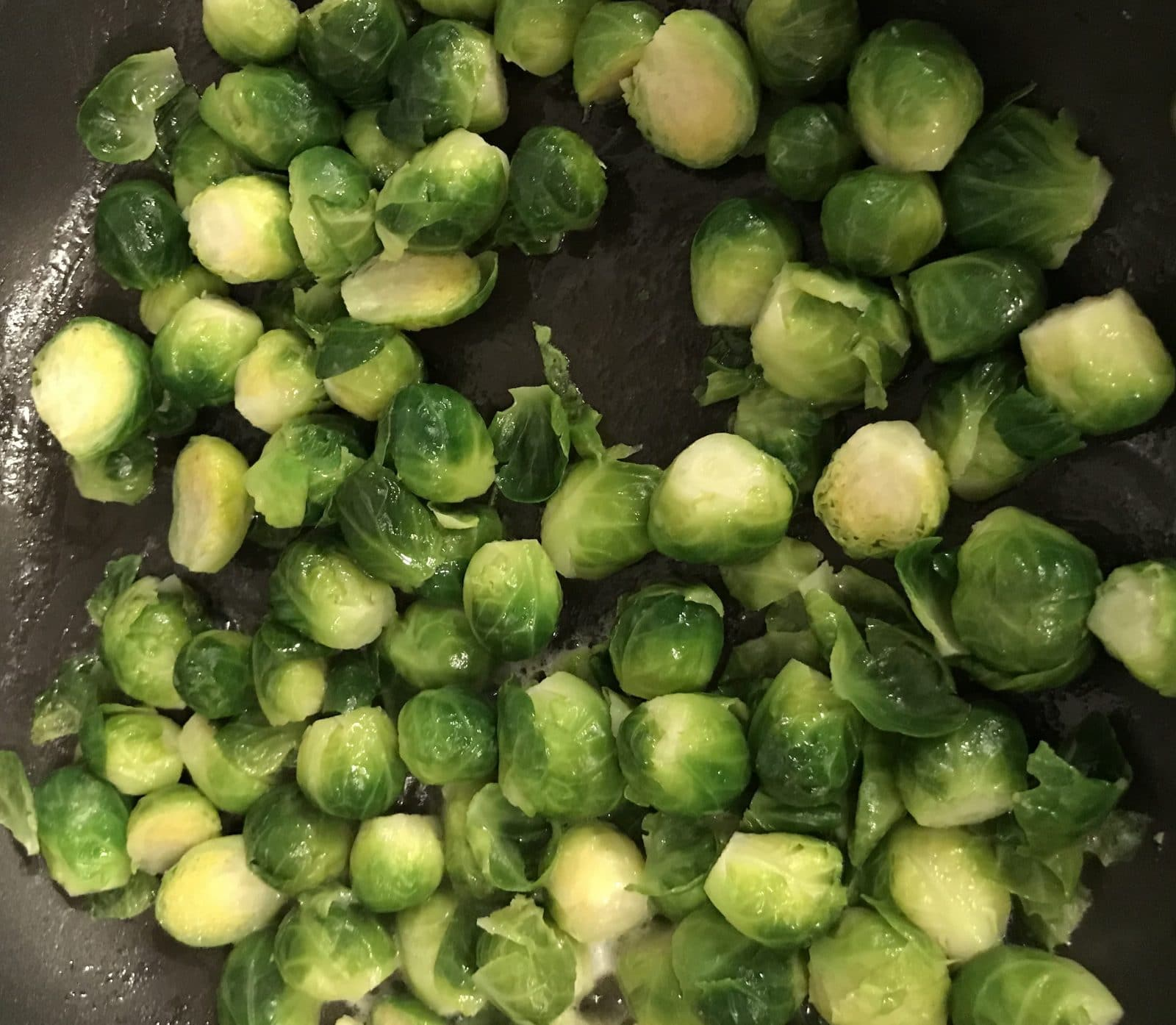 garlic and parmesan brussel sprouts ip