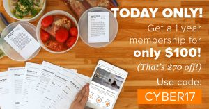 cyber monday with once a month meals
