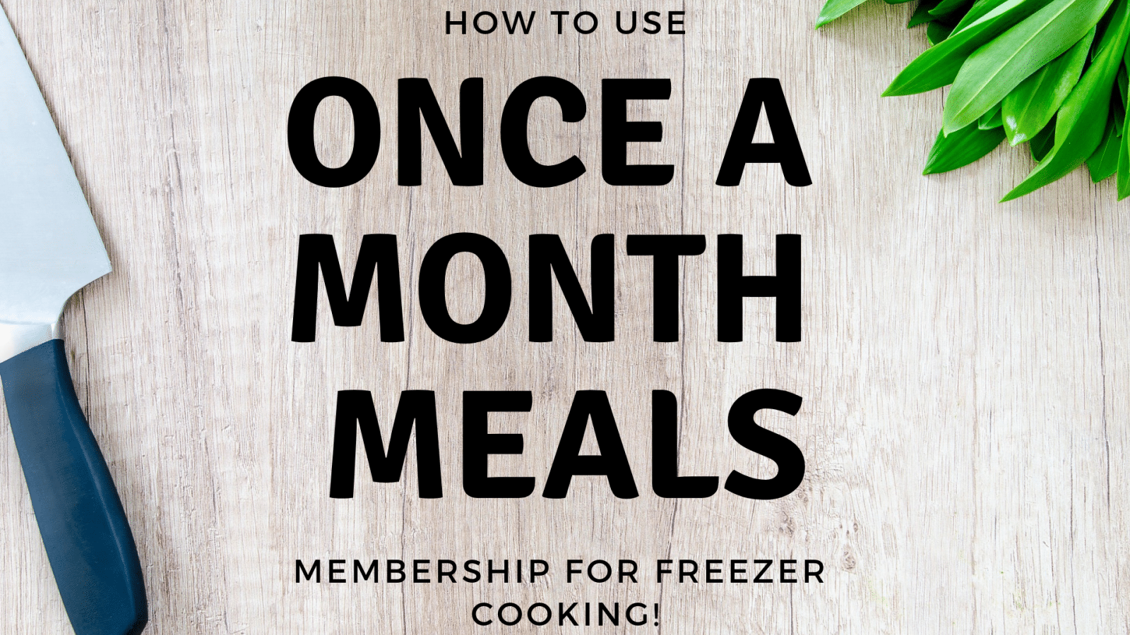 freezer cooking with once a month meals