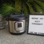 Instant pot creamy beef stroganoff